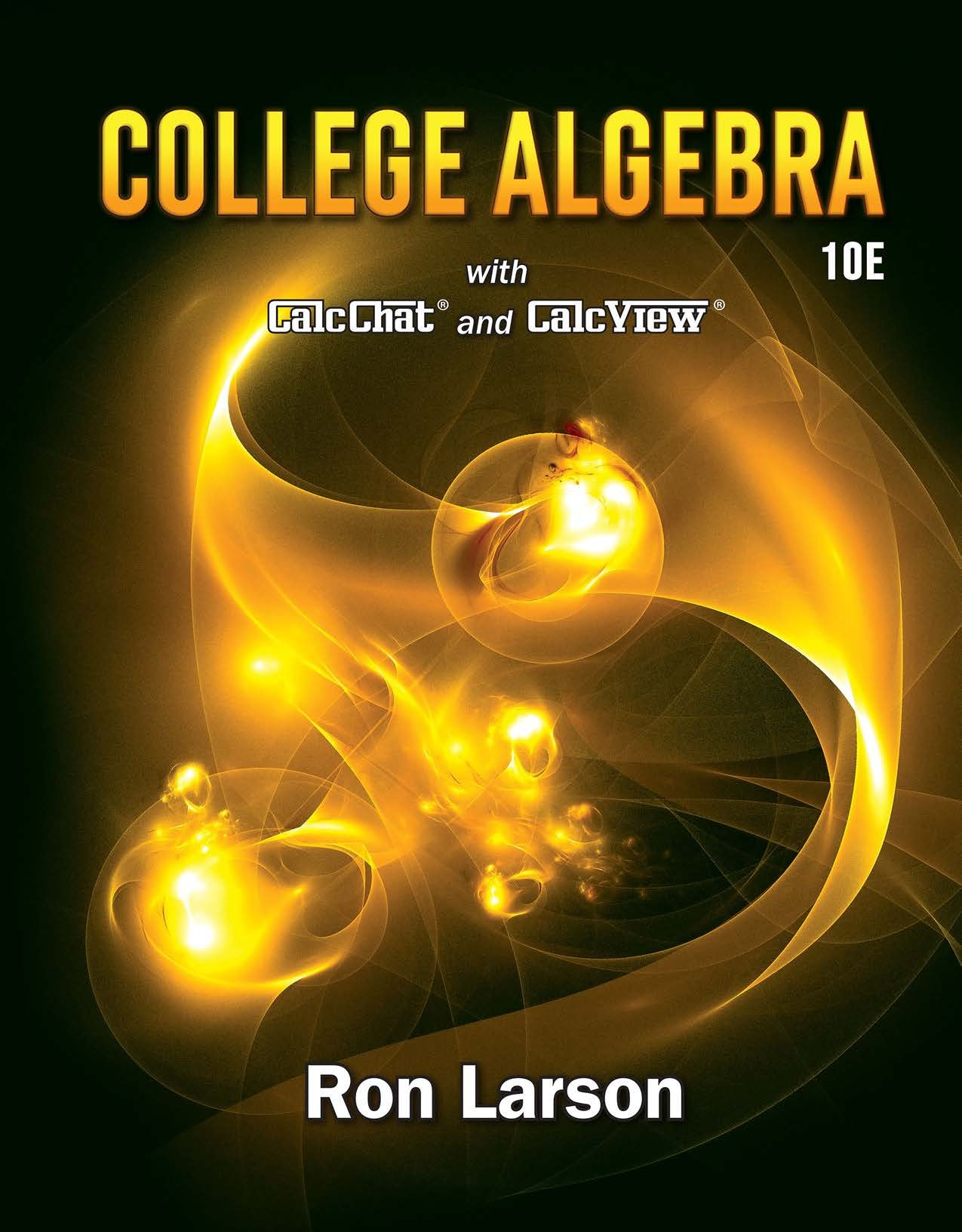 Precalculus Ron Larson 10th Edition Pdf