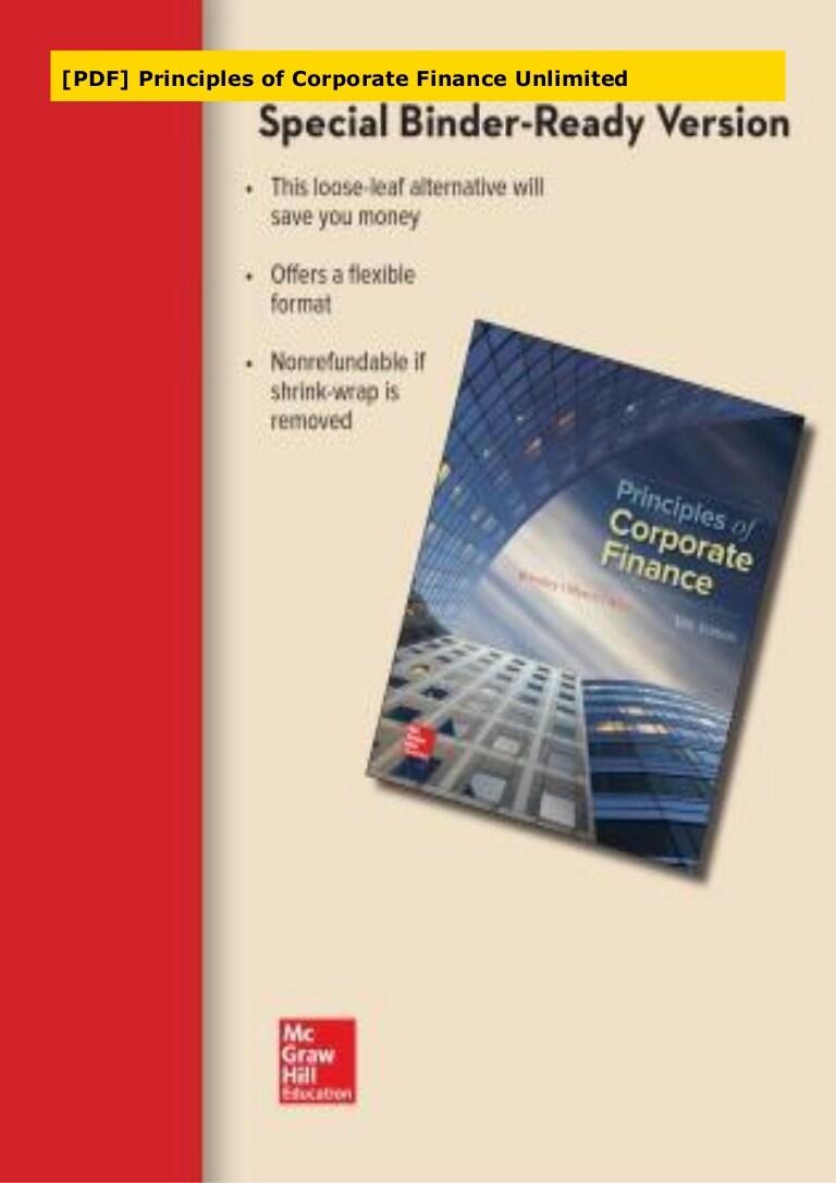 Principles Of Corporate Finance Pdf