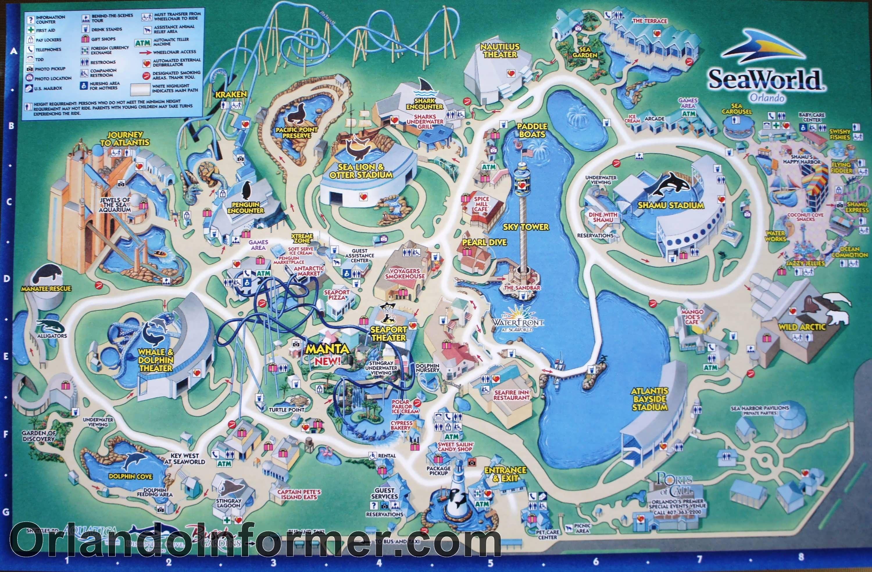 Printable Pdf Seaworld Orlando Map