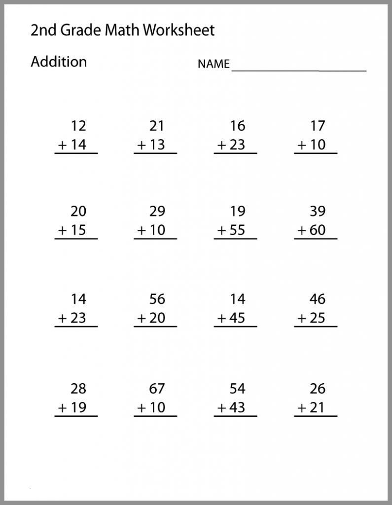Printable Second Grade Math Worksheets Pdf