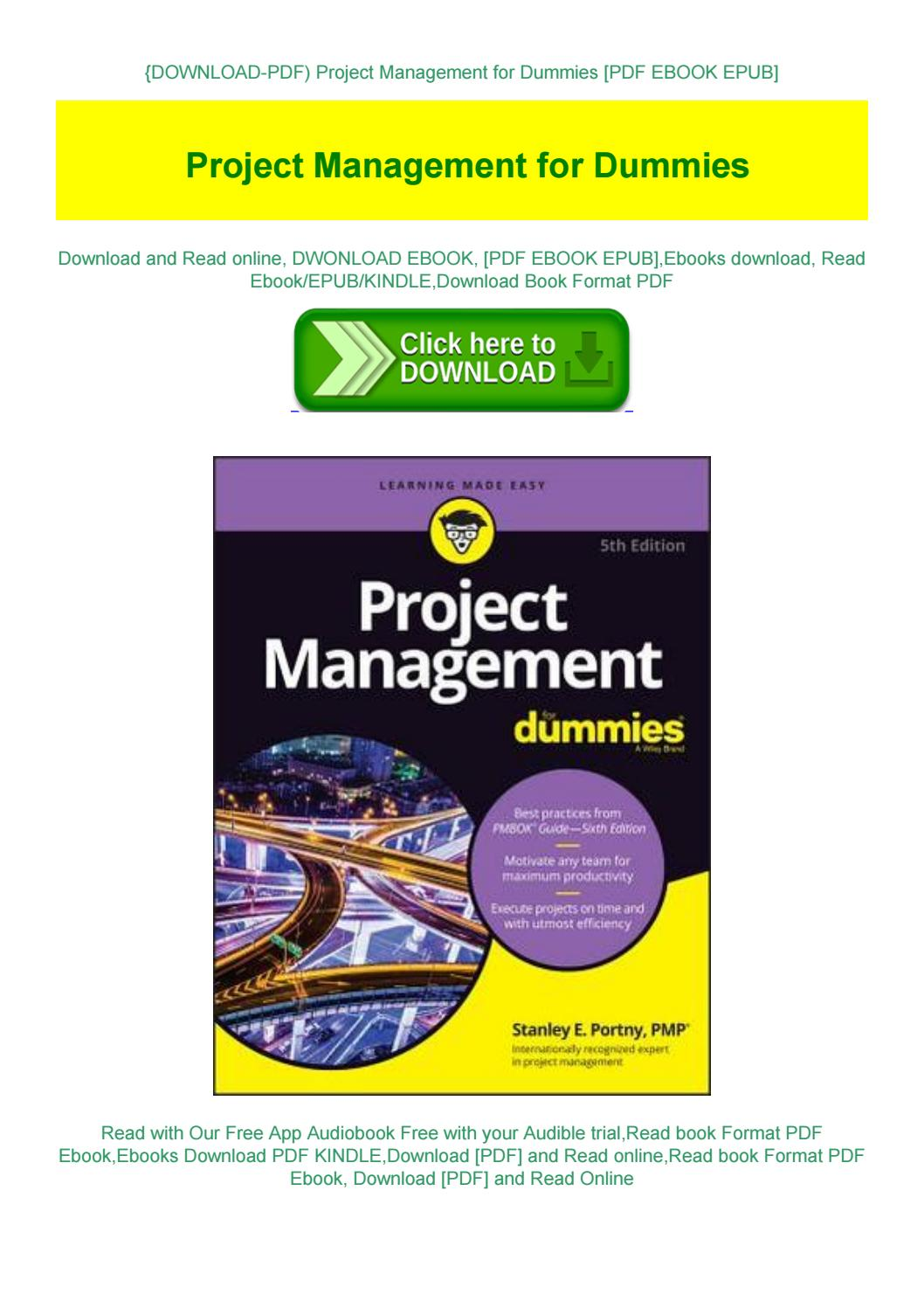 Project Management For Dummies Pdf Download