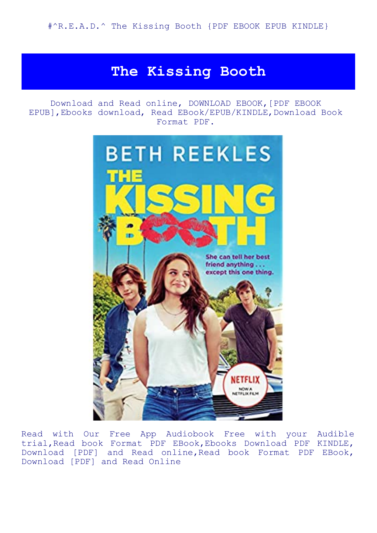Read The Kissing Booth Pdf