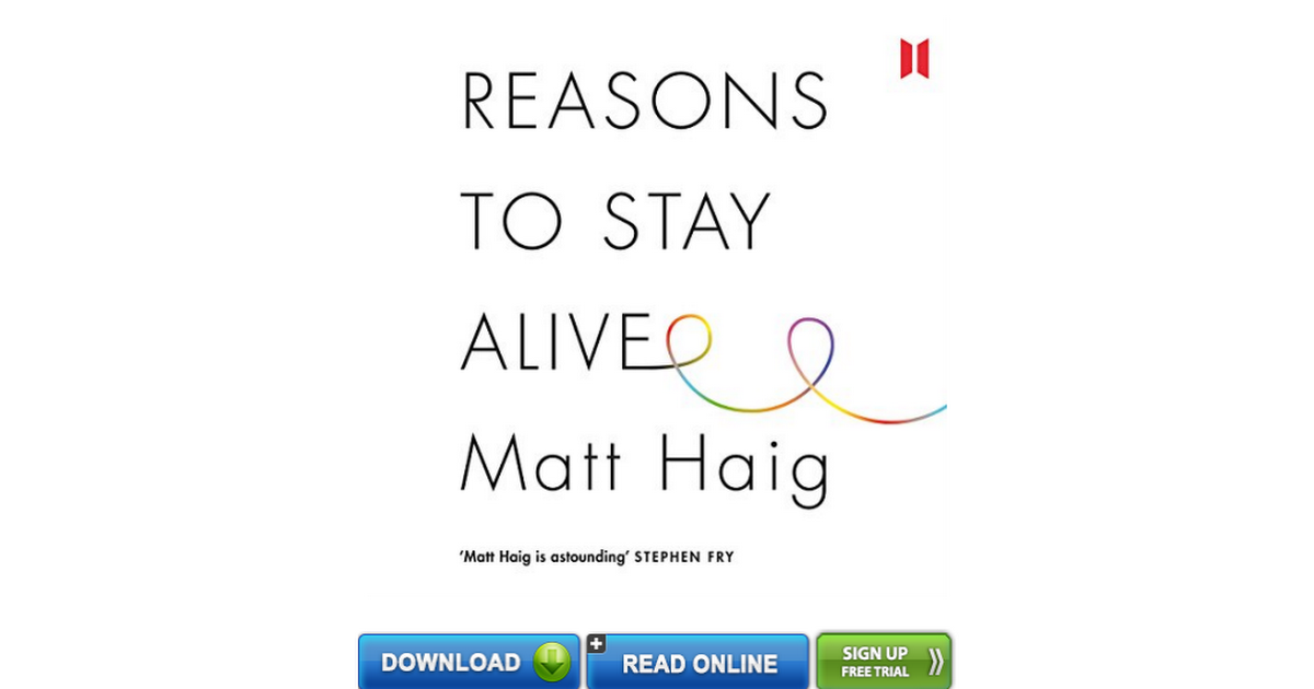Reasons To Stay Alive Pdf Free Download