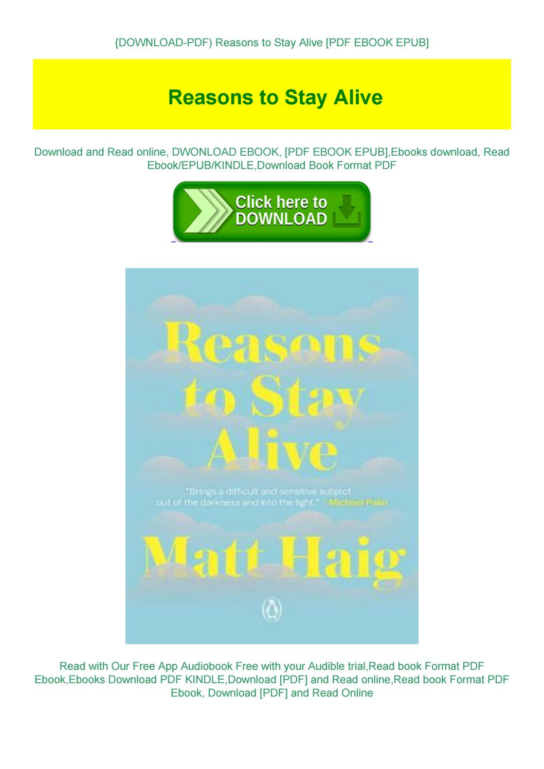 Reasons To Stay Alive Pdf Online Free