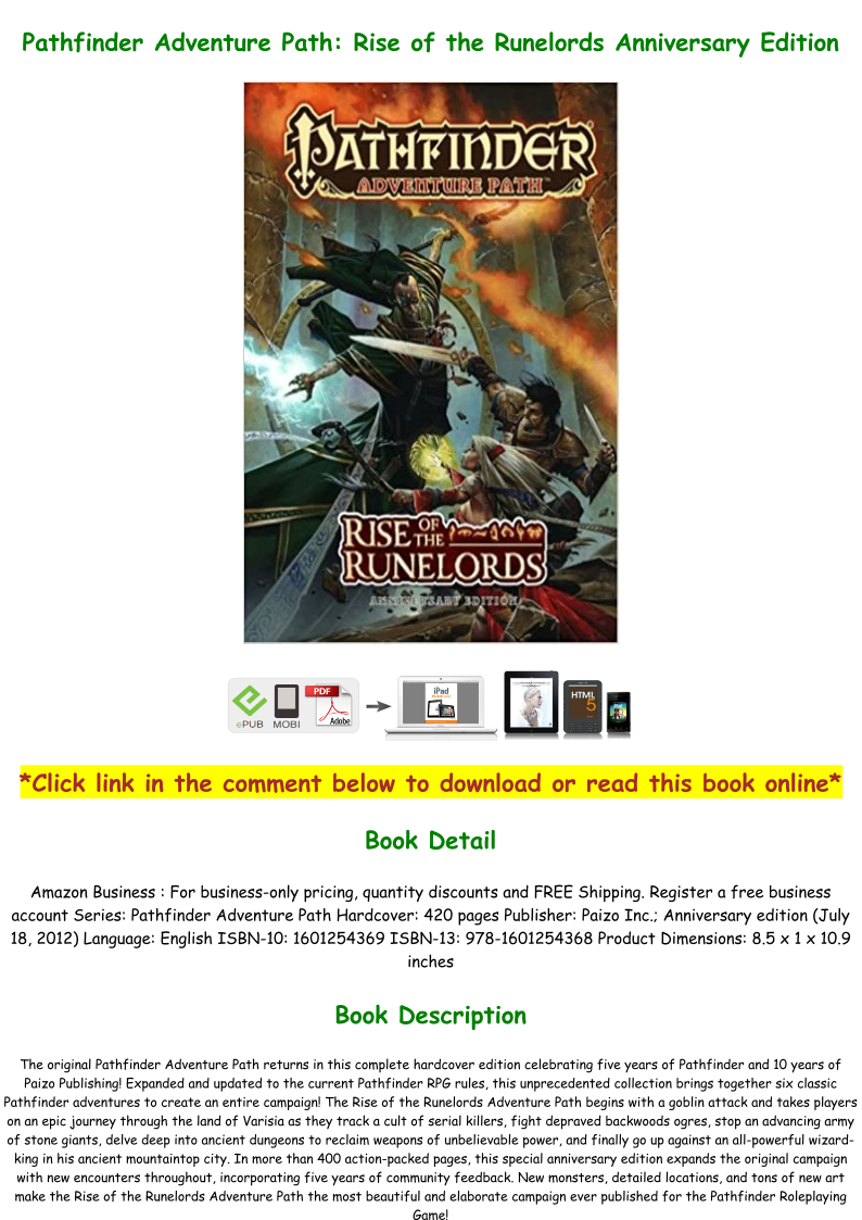 Rise Of The Runelords Anniversary Edition Pdf Download