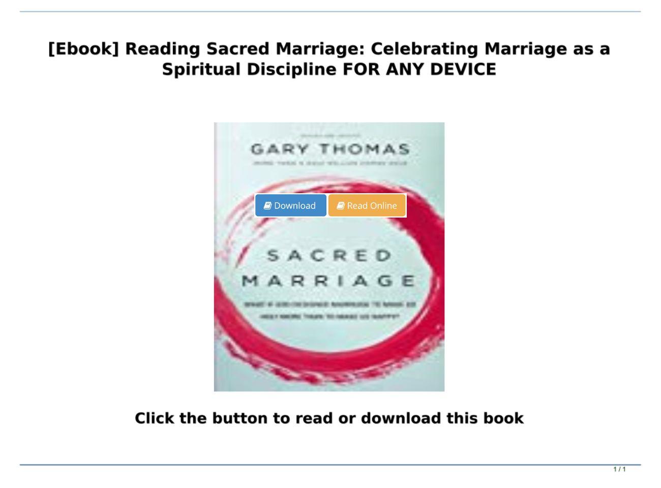 Sacred Marriage Pdf