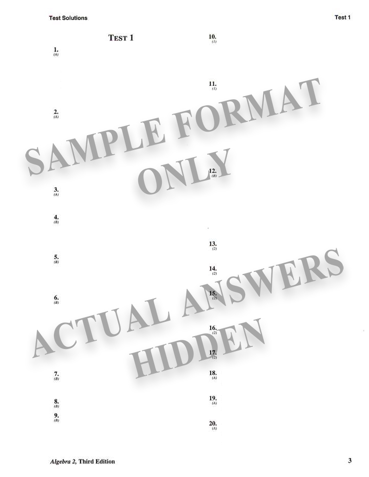 Saxon Algebra 1 Test Pdf