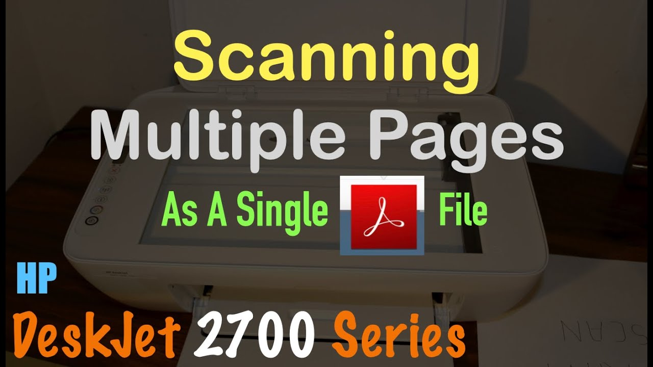 Scan Multiple Pages To Pdf Hp Smart