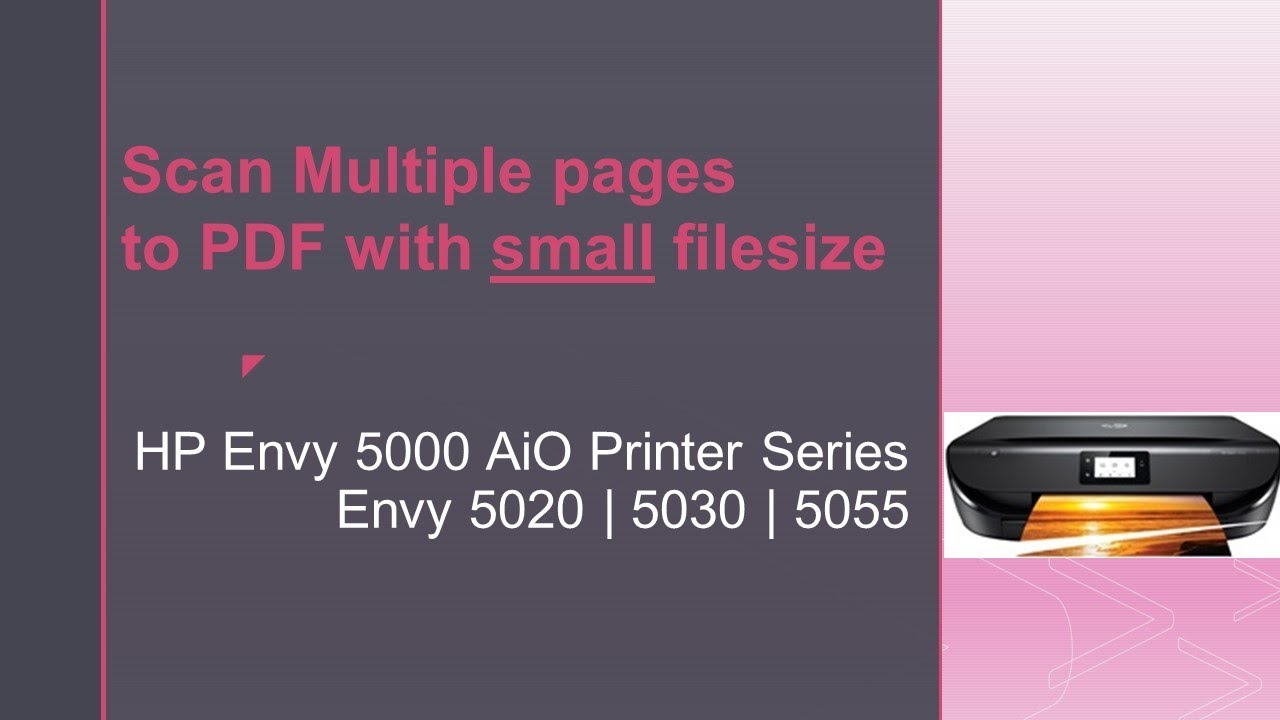Scan Multiple Pages To Pdf Hp
