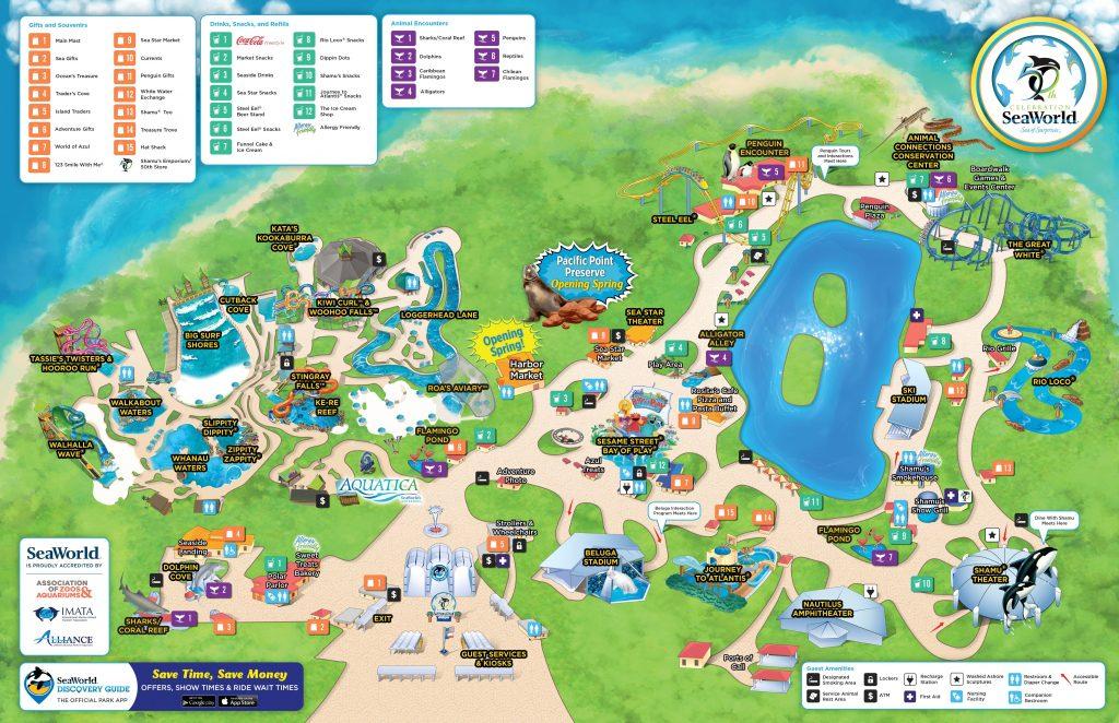 Seaworld Orlando Map Pdf