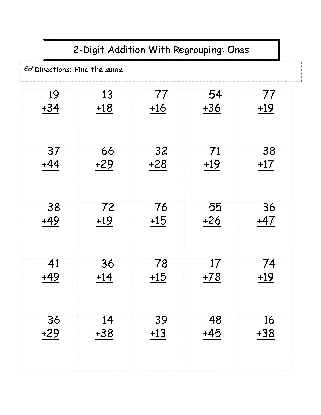 Second Grade Printable 2nd Grade Math Worksheets Pdf