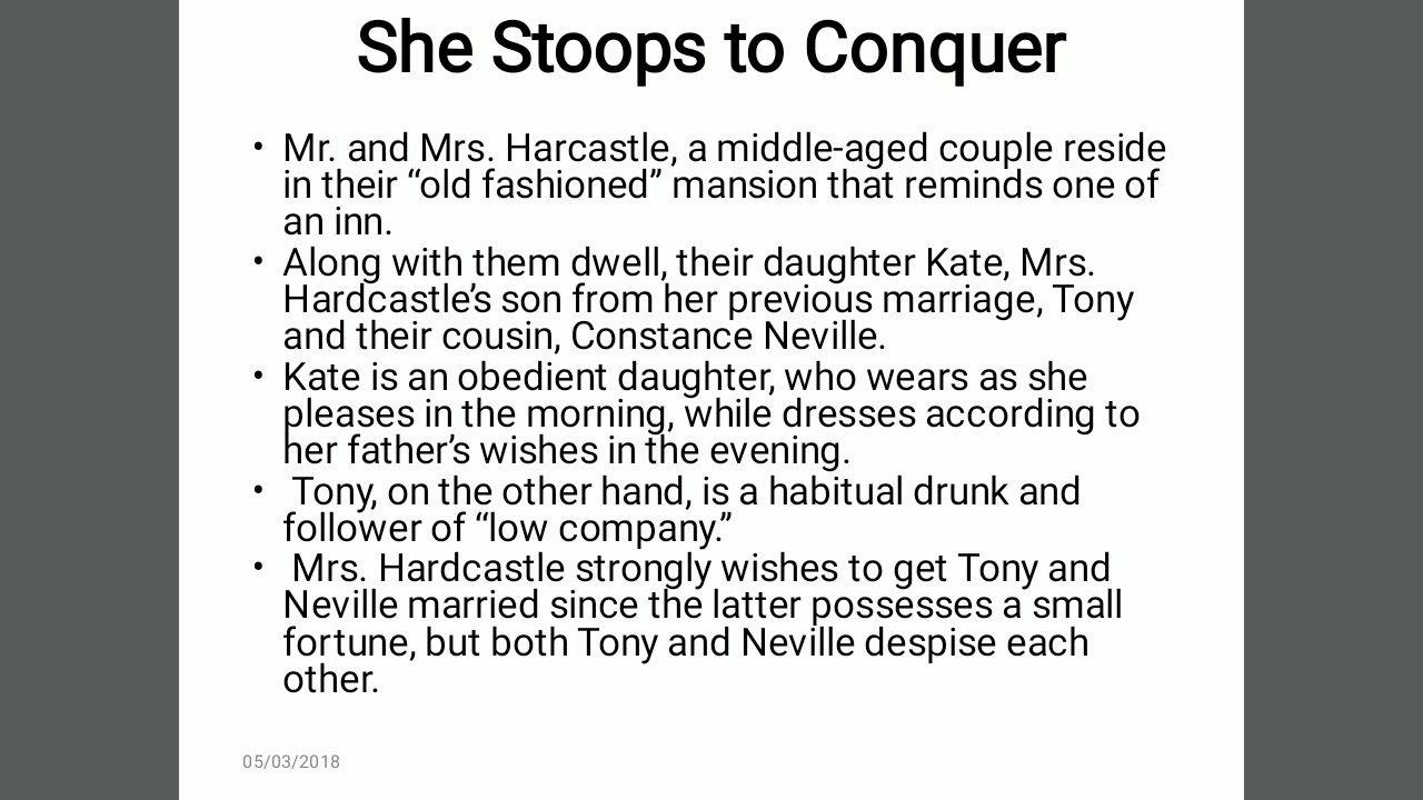 She Stoops To Conquer Pdf Text