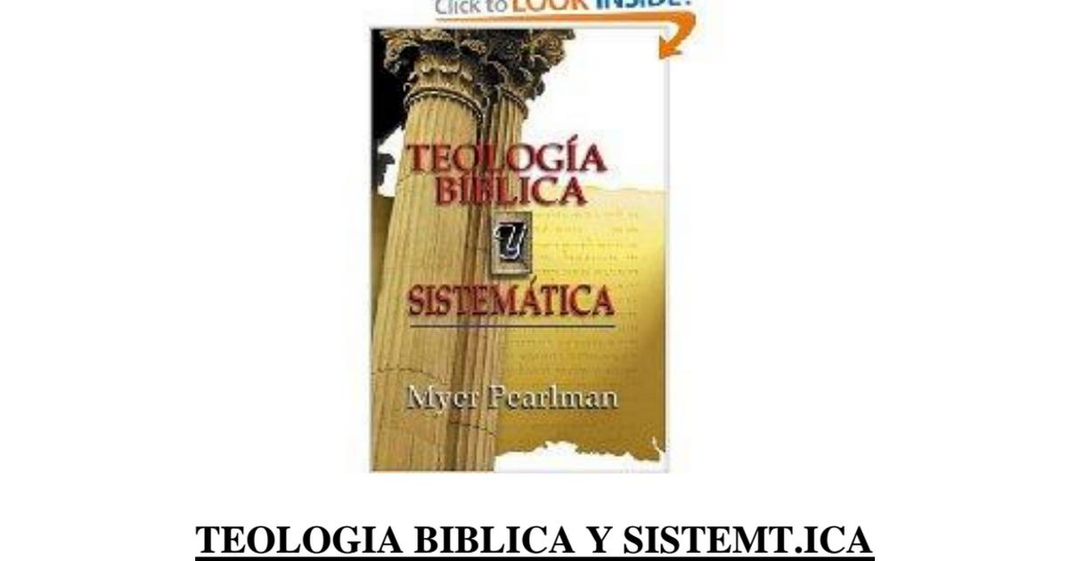Teologia Sistematica Myer Pearlman Pdf