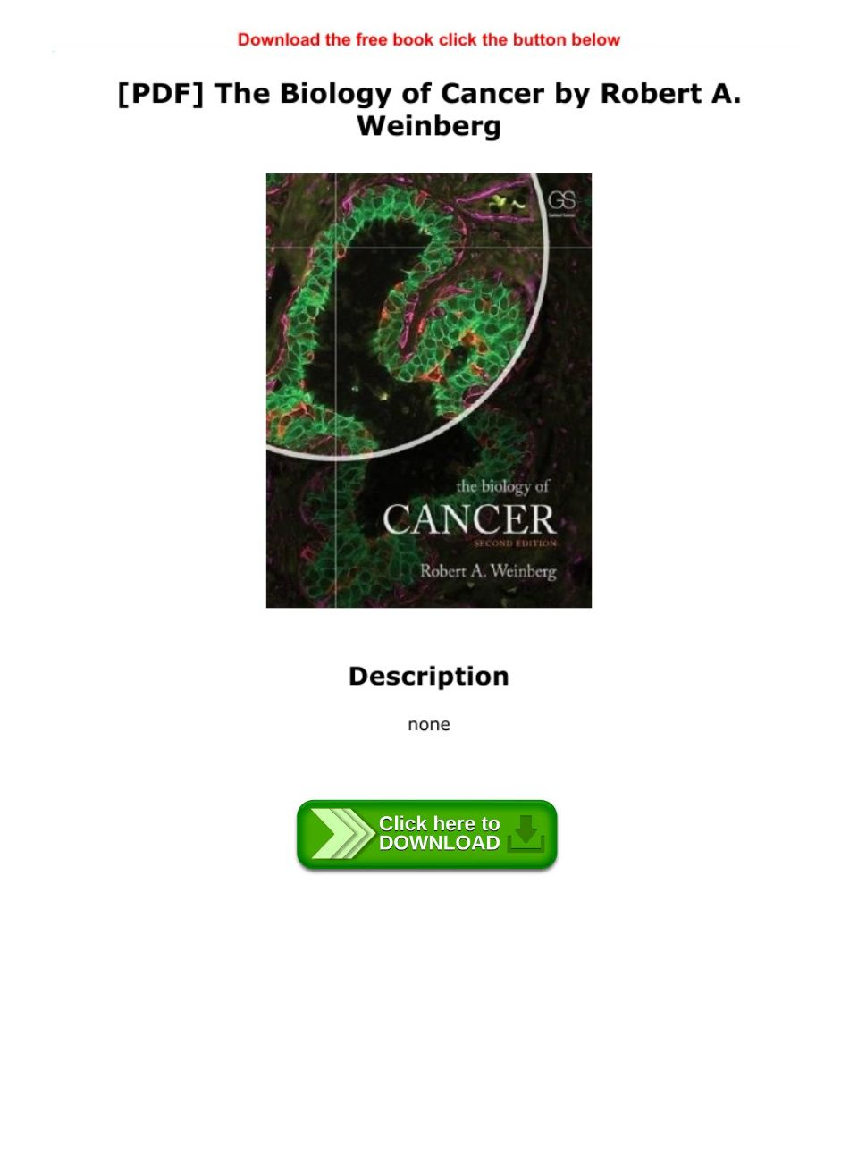 The Biology Of Cancer Weinberg Pdf