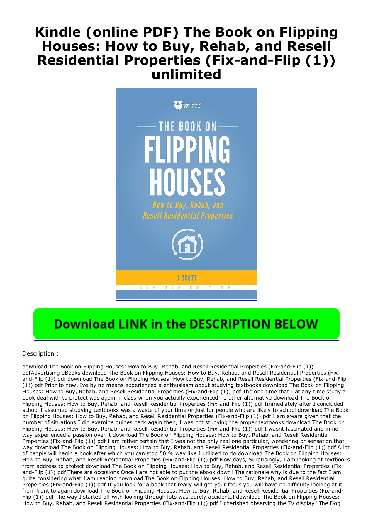 The Book On Flipping Houses Pdf Download