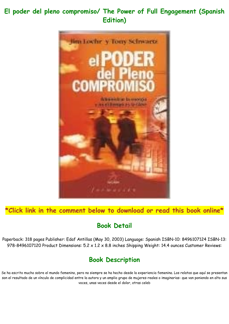 The Power Of Full Engagement Pdf Download