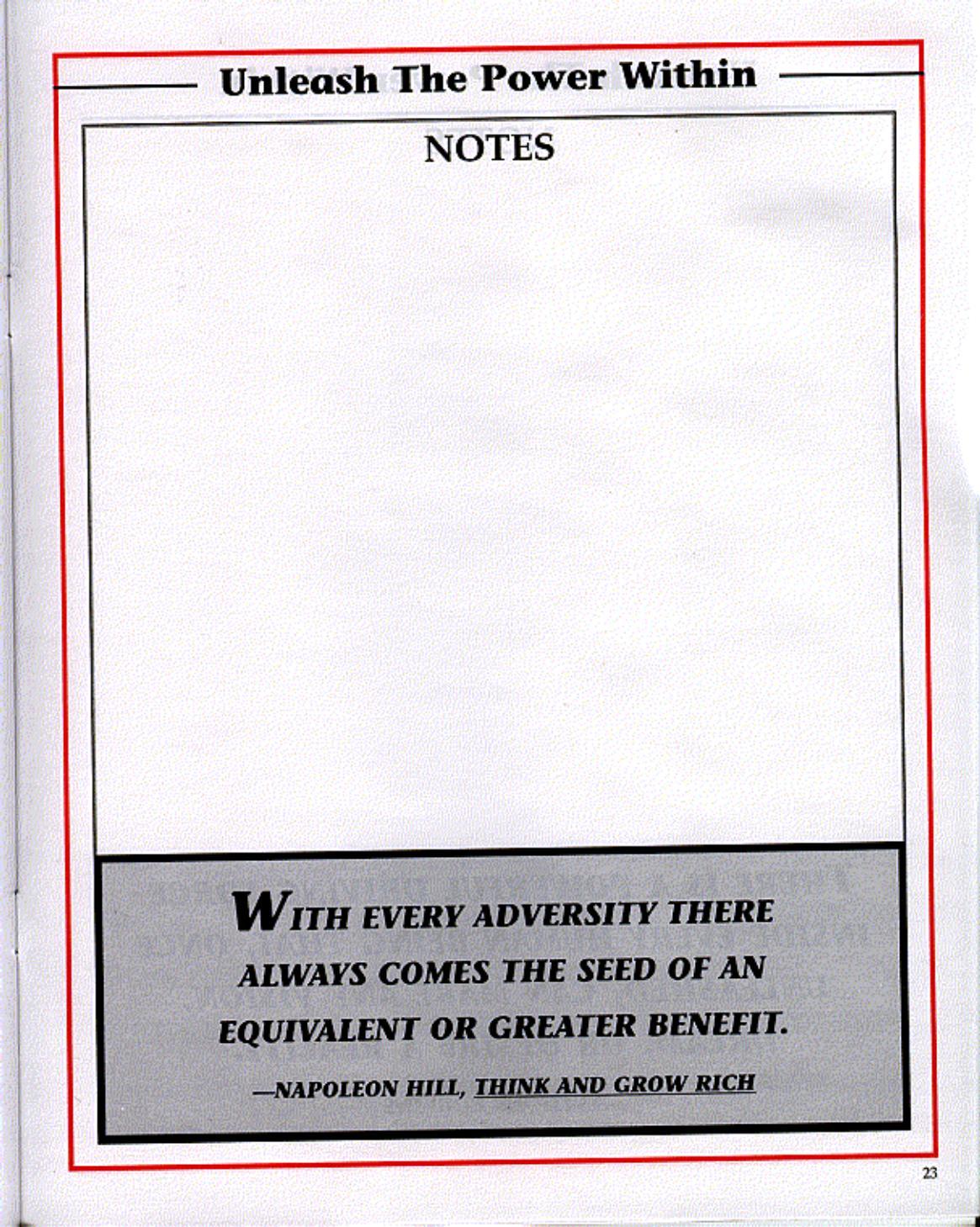 Tony Robbins Workbook Pdf