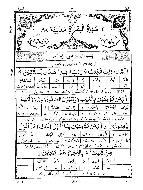 Urdu Translation Surah Baqarah Full Pdf