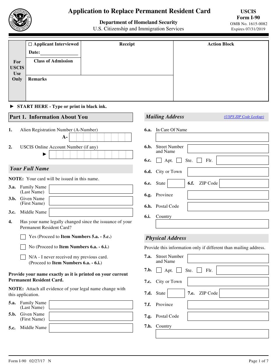 Uscis Form I 90 Pdf