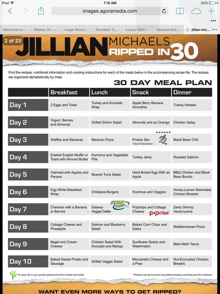 Vinsanity Shred Meal Plan Pdf