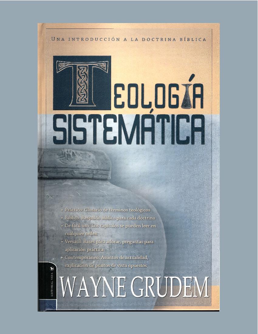 Wayne Grudem Teologia Sistematica Pdf