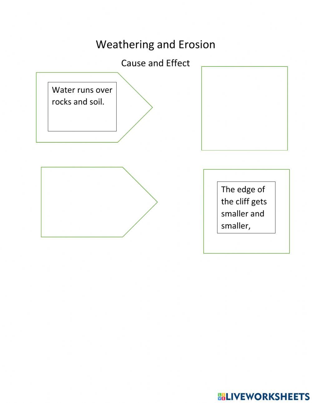 Weathering And Erosion Worksheets 2nd Grade Pdf