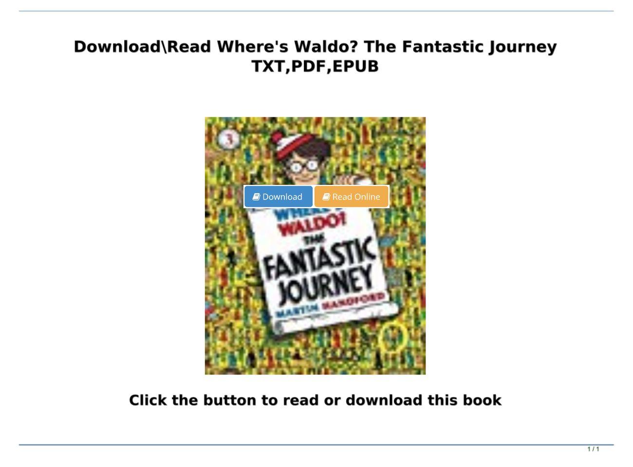 Where's Waldo Pdf Download