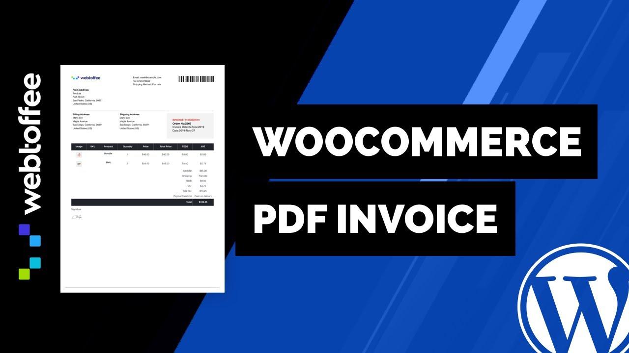 Woocommerce Pdf Invoices Plugin