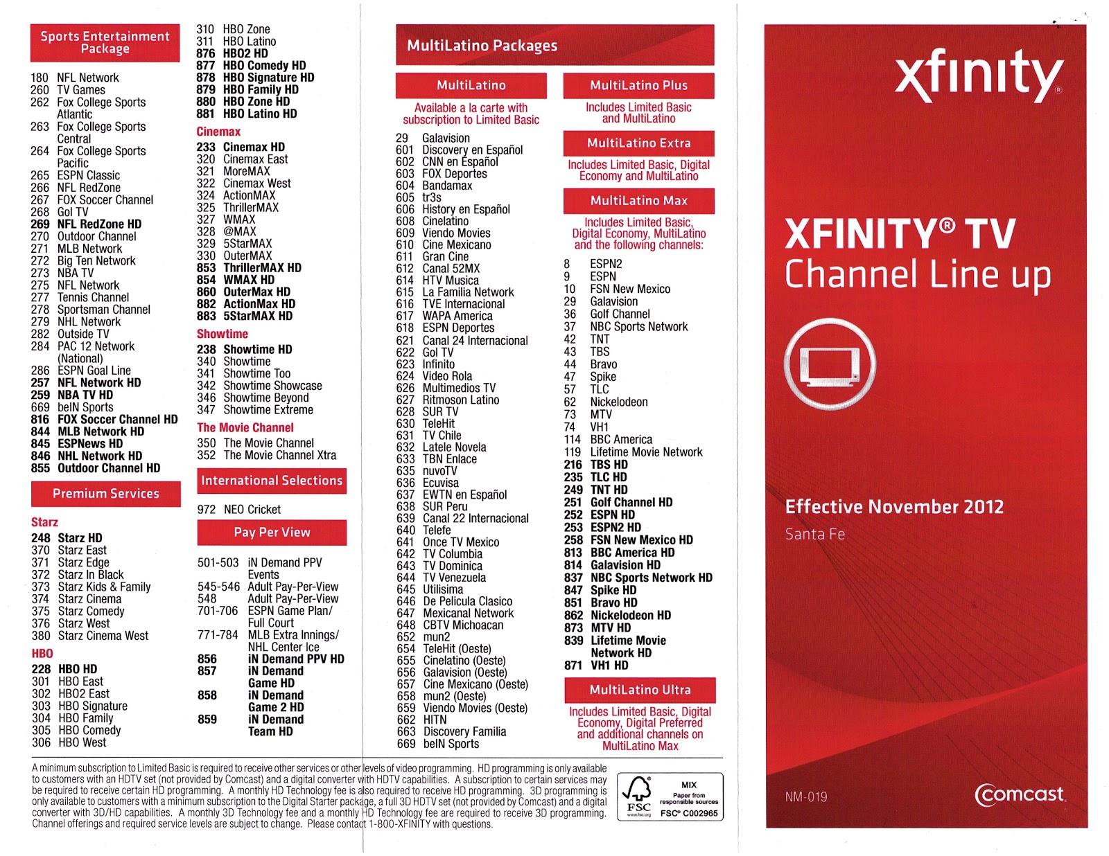 Xfinity Channel Guide Pdf