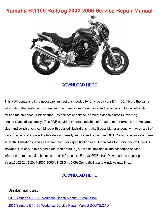Yamaha Motorcycle Manuals Pdf