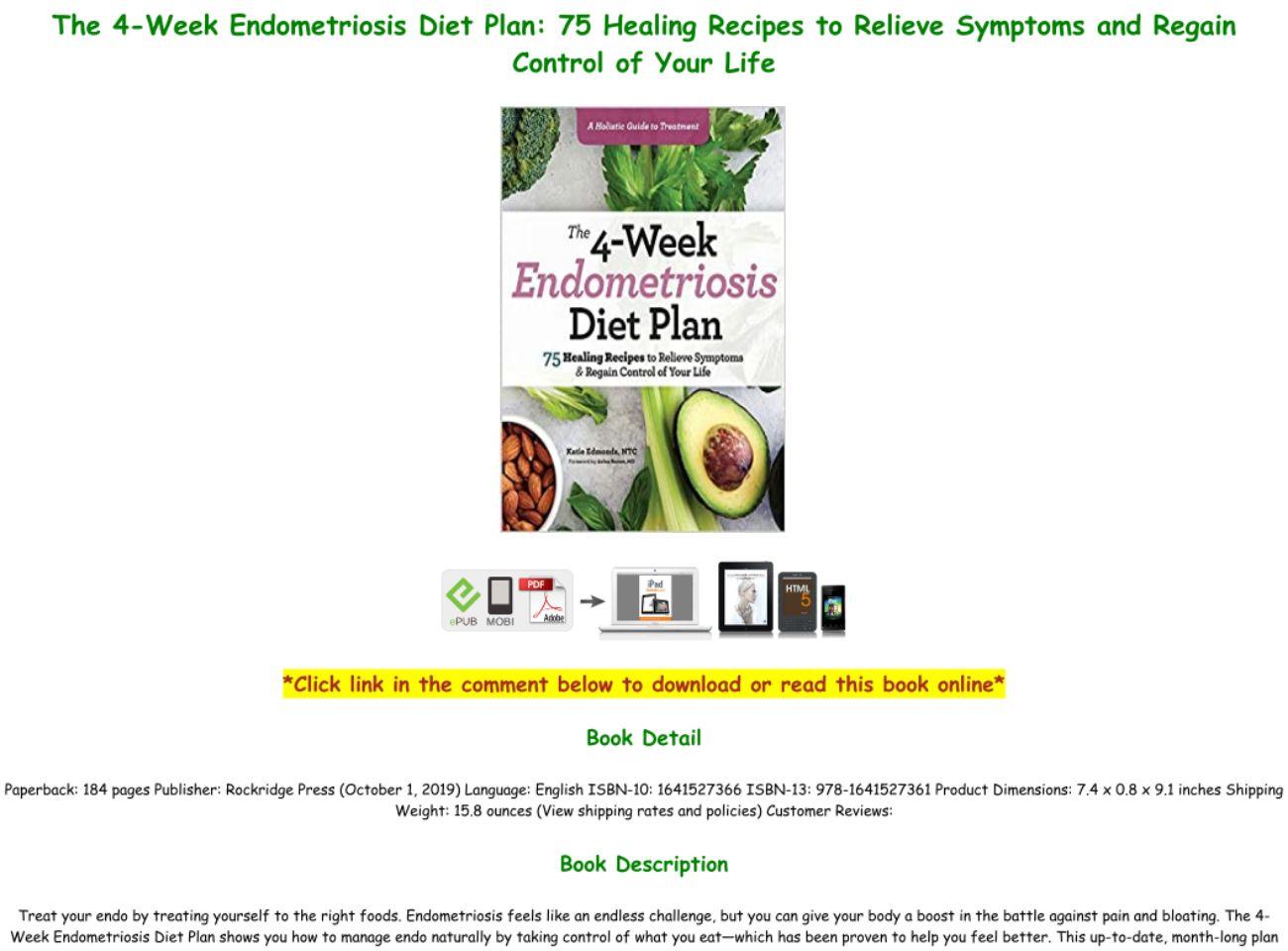 4 Week Endometriosis Diet Plan Pdf
