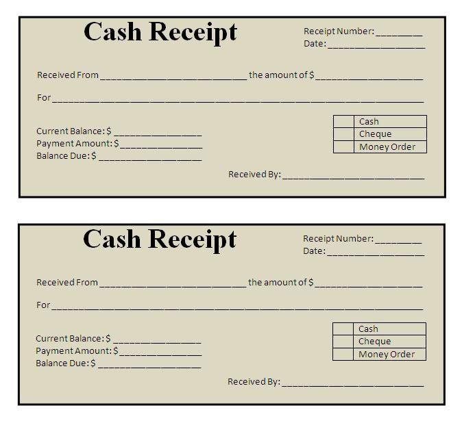 Cash Receipt Format India Pdf