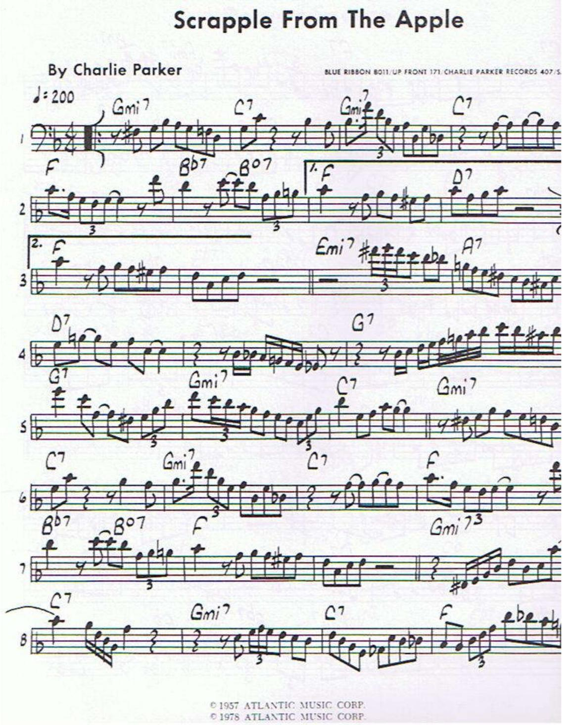 Charlie Parker Omnibook Pdf Bass