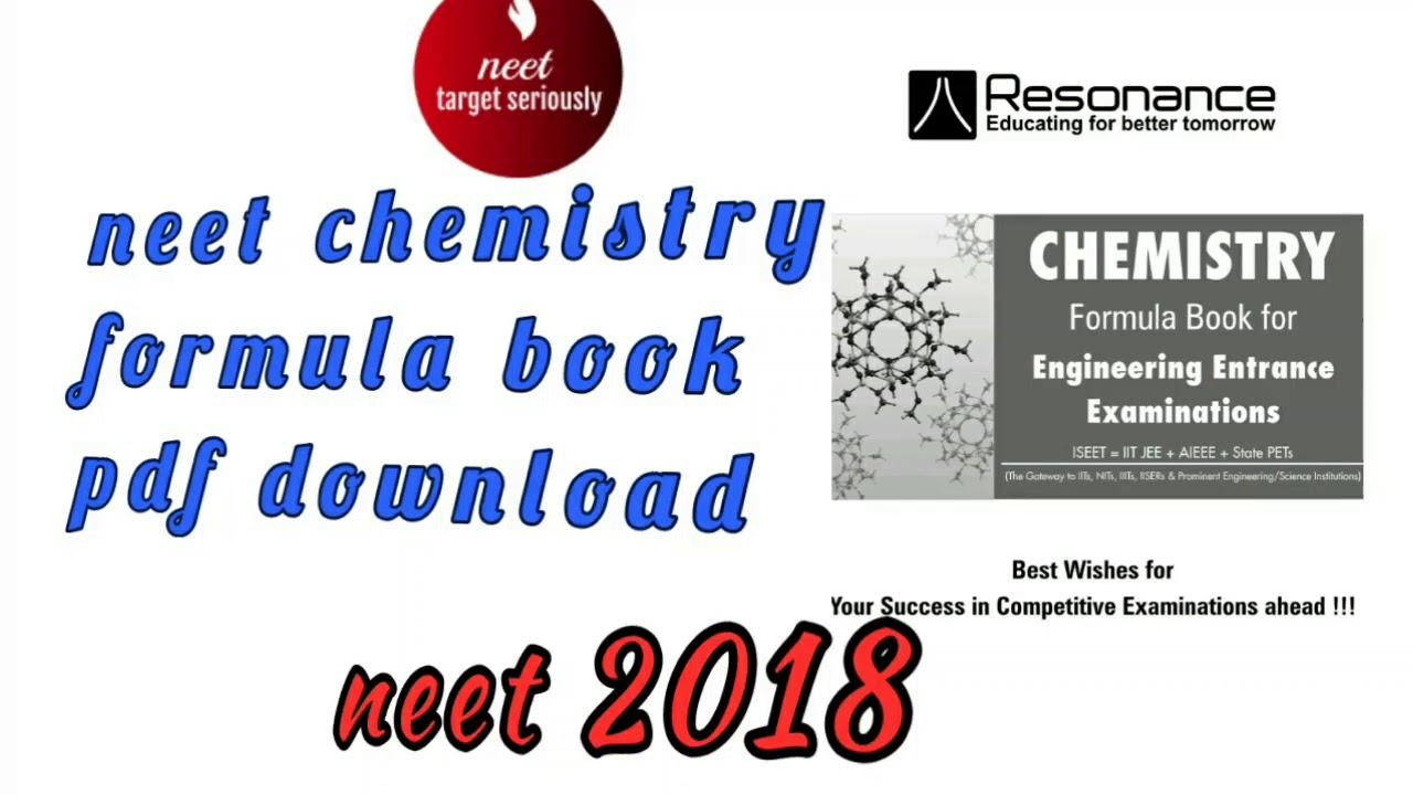 Chemistry Formula Book Pdf