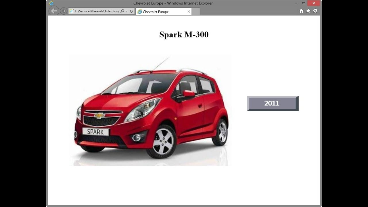 Chevrolet Spark 2011 Service Manual Pdf