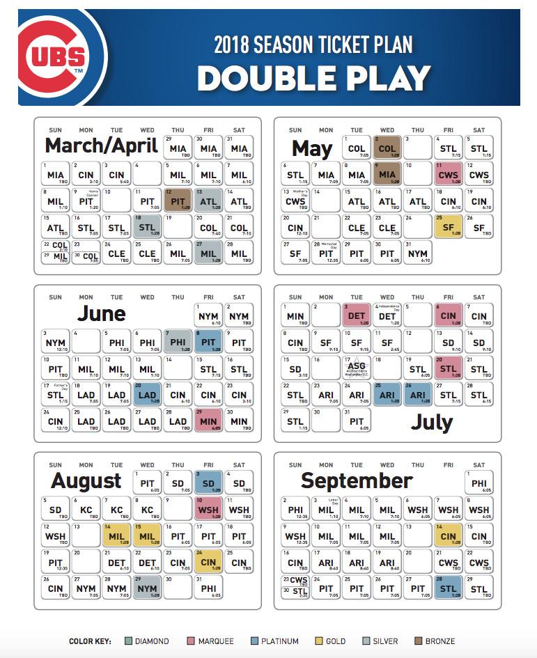 Chicago Cubs Schedule Pdf