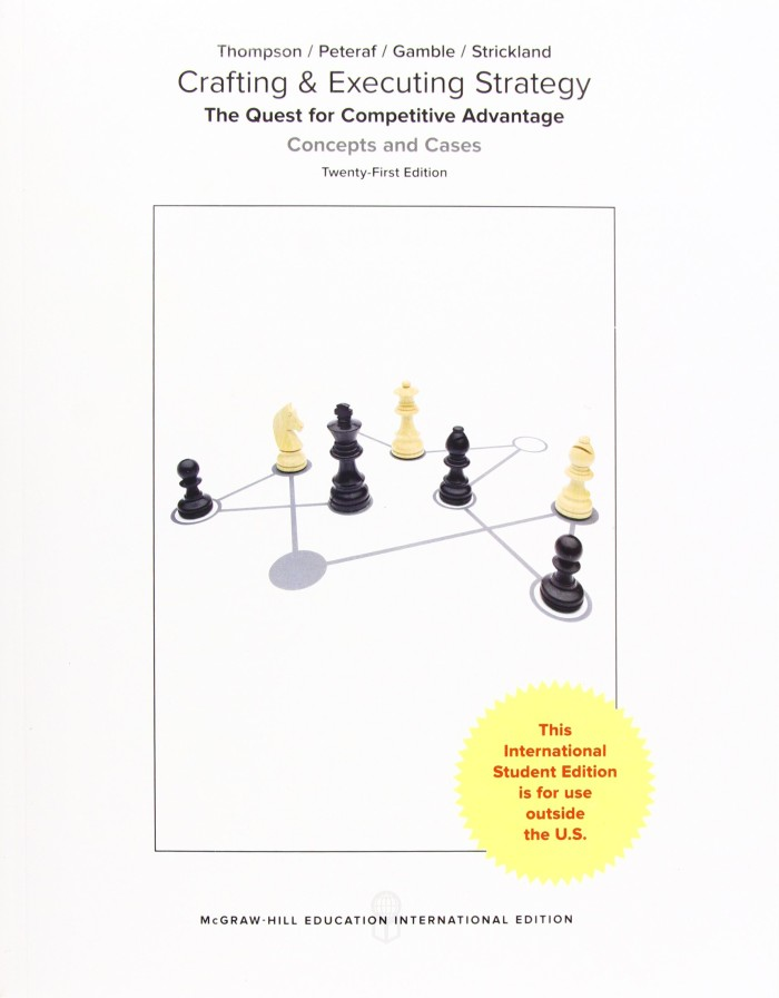 Crafting Executing Strategy 21st Edition Pdf