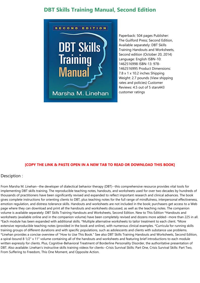 Dbt Skills Book Pdf