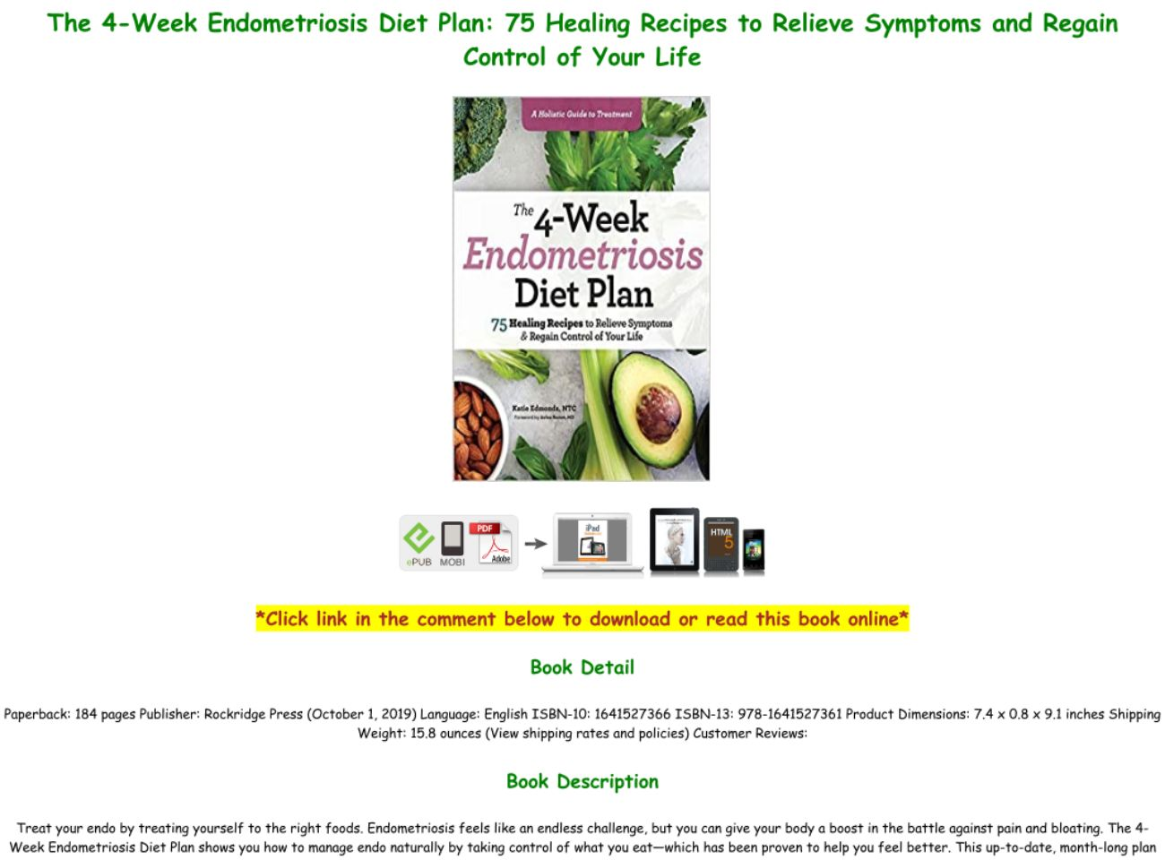 Endometriosis Diet Plan Pdf