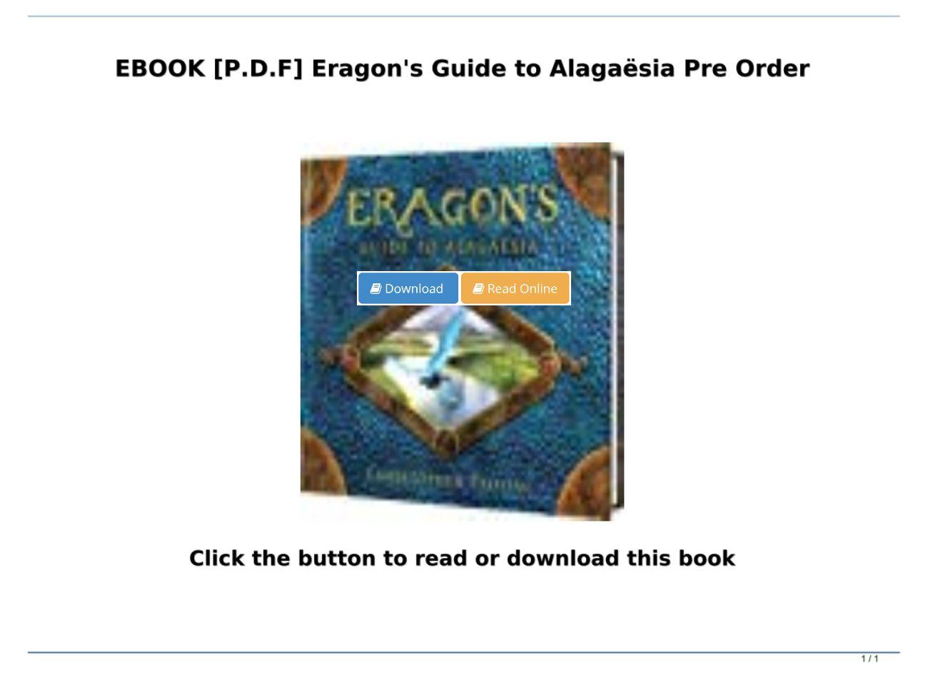 Eragon Ebook Pdf