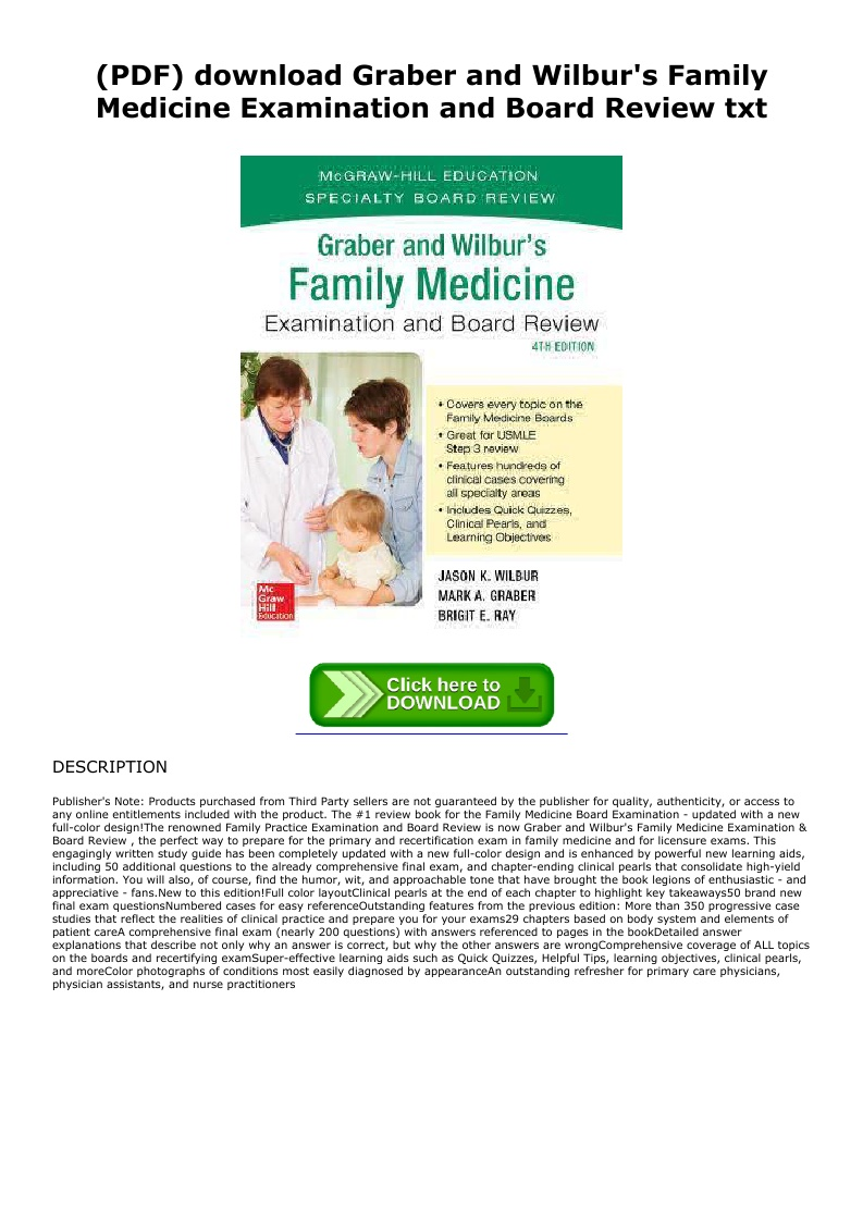 Family Medicine Examination And Board Review Pdf
