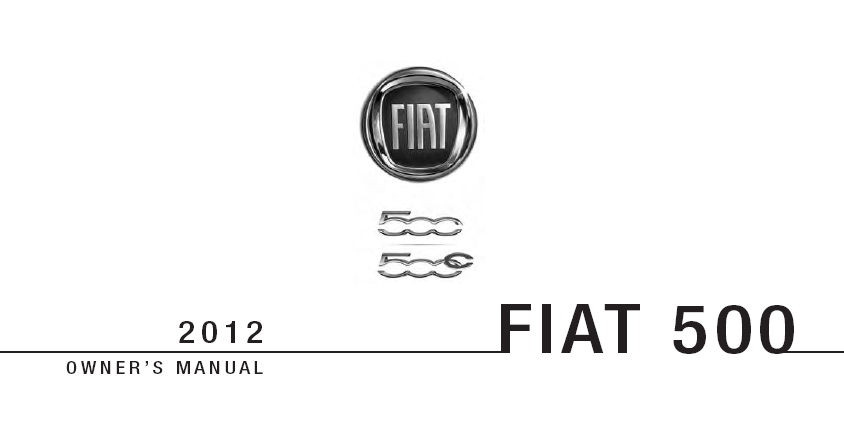 Fiat 500 Owners Manual Pdf