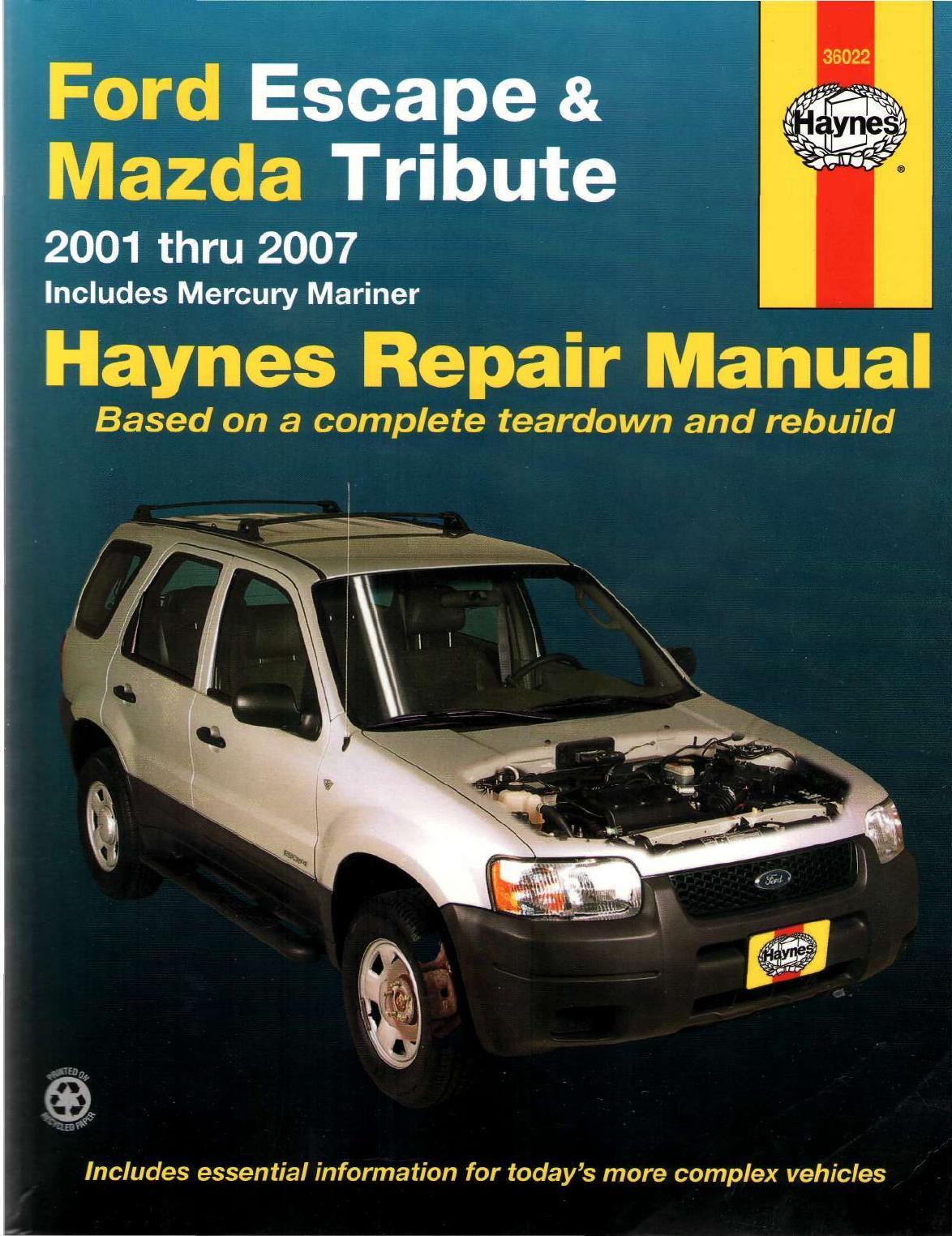 Free Ford Escape Repair Manual Pdf