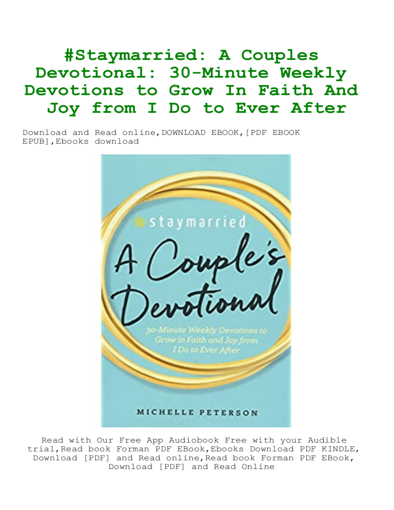 Free Online Devotions For Dating Couples Pdf