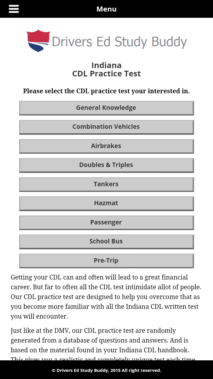 Indiana Cdl General Knowledge Test Answers