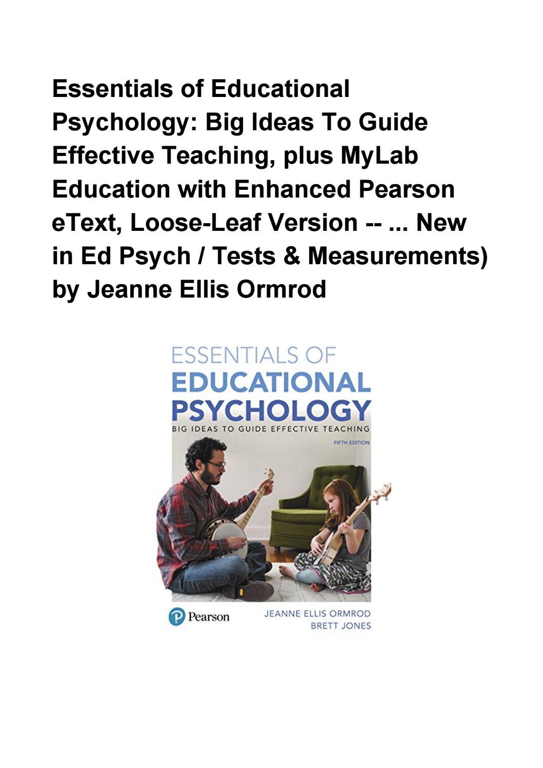 Jeanne Ellis Ormrod Educational Psychology Pdf