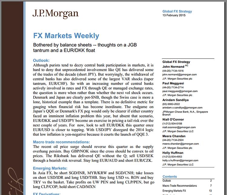Jp Morgan Weekly Market Recap Pdf