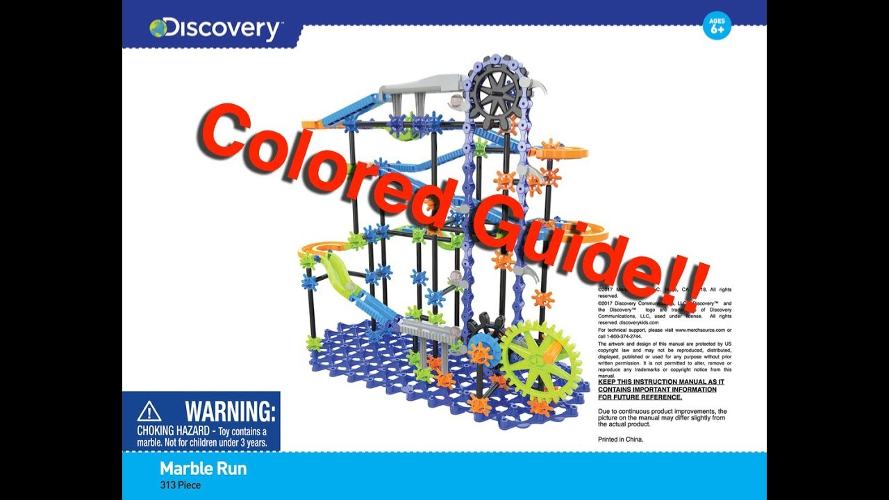 Discovery Marble Run Instructions Pdf