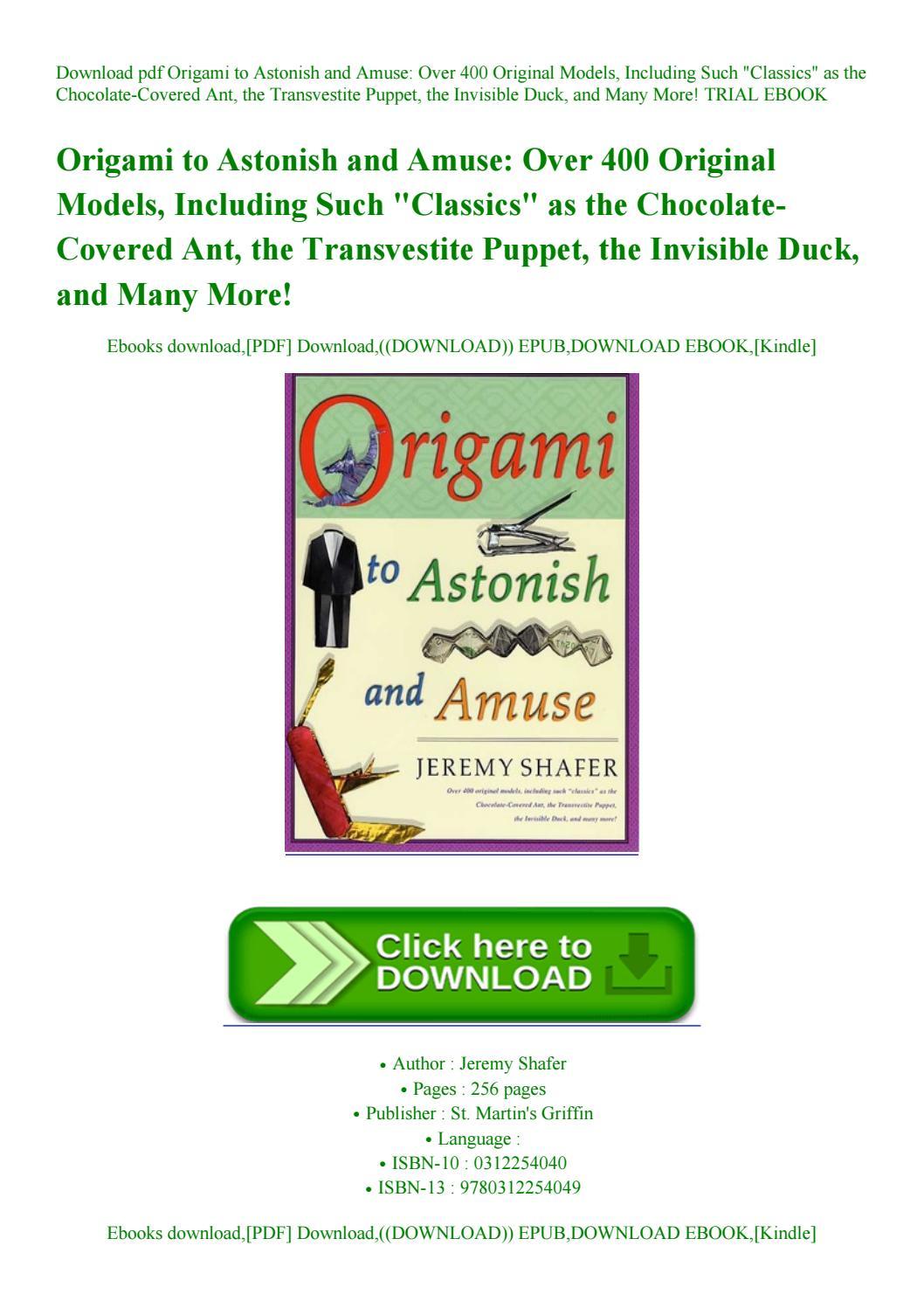 Jeremy Shafer Origami Book Pdf