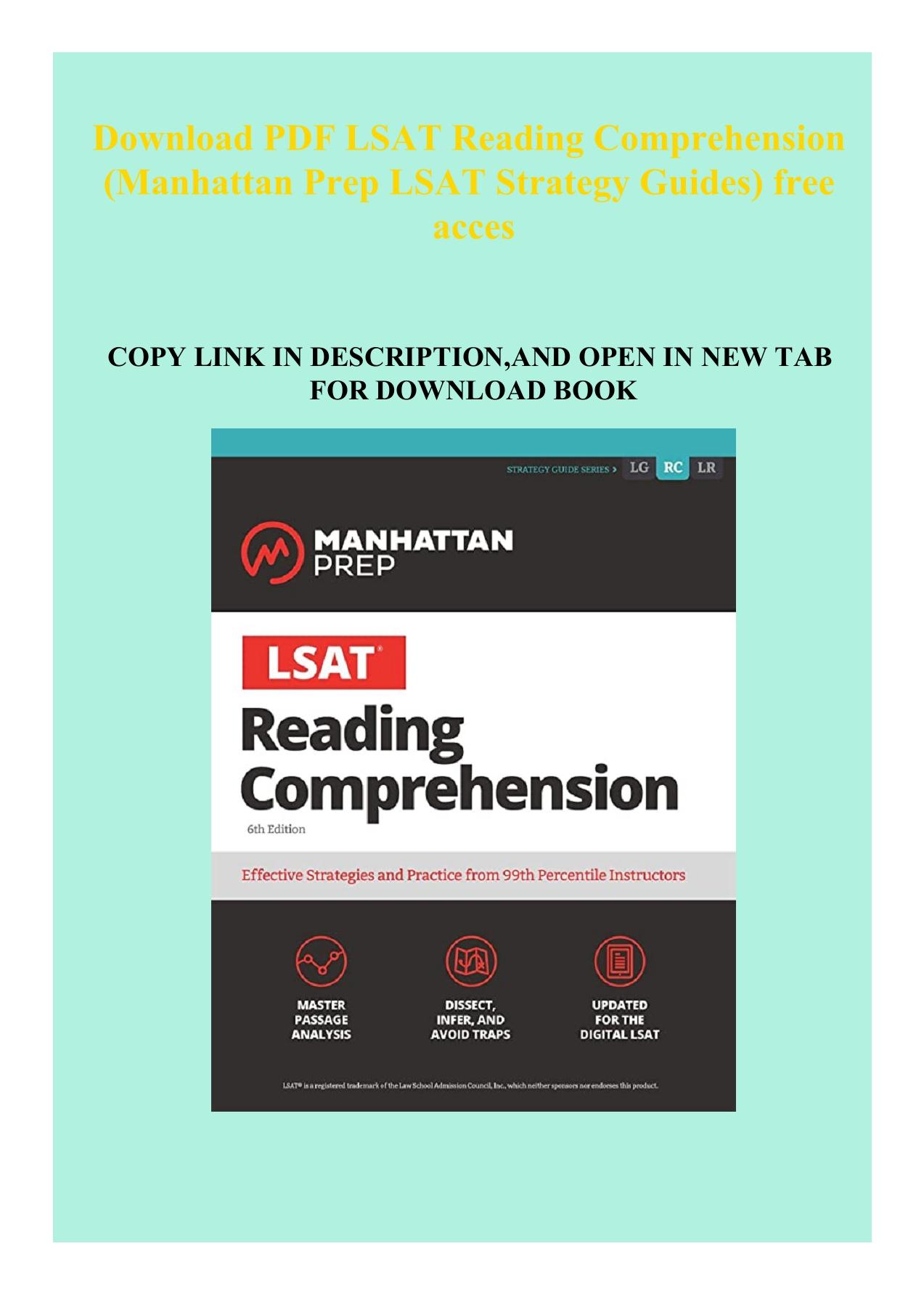 Lsat Reading Comprehension Pdf